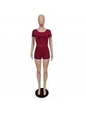 Summer Short Sleeve Loungewear Two Piece Shorts Set