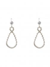 Water Drop Shining Rhinestone Long Earrings Design