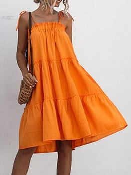 Multi-Color Loose Sleeveless Summer Dress