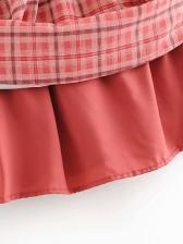 Square Collar Elastic Red A-Line Dress Fashion