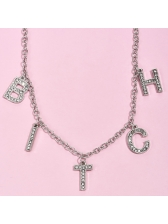 Shiny Rhinestone Letter New Arrival Chain Necklace
