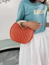 New Arrival Woven Design Round Handbags For Women