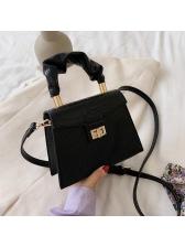 Trapezoidal Crocodile Print Handbags With Detachable Belt