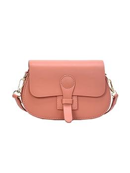 Detachable Strap Solid Color Simple Style Saddle Bag