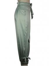 Casual Light Green Jogger Pants For Women