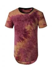 Crew Neck Short Sleeve Tie Dye T Shirts
