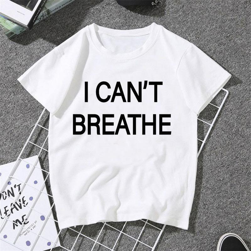 I Cant Breath Print Short Sleeve Cheap T Shirt