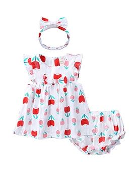 Flower Print Sleeveless Casual Girls Dress