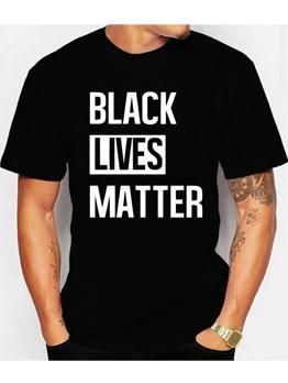 Black Lives Matter Print T-shirts For Men