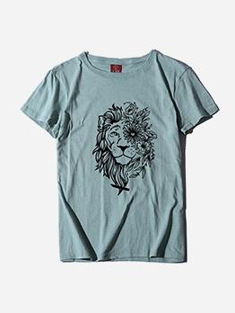 Multi-color Plus Size T-shirts For Ladies