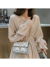 Crack Printing Square Women Chain Crossbody Bags