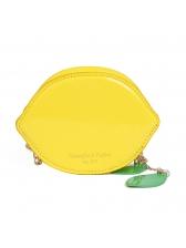 Cute Style Lemon Shape Chain Mini Crossbody Bags