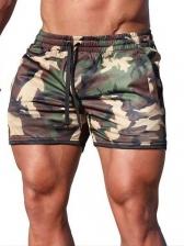 Solid Color Drawstring Mens Tracking Shorts