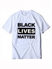 Black Lives Matter Print Short Sleeve Tee Shirts