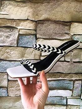 Versatile Woven Square Toe Cheap Slippers
