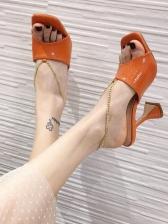 Hot Sale Square Toe Designer Sandals