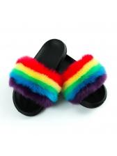 Summer Faux Fur Women Fluffy Slippers
