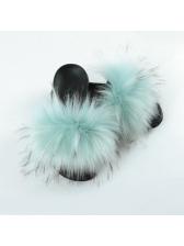 Euro Faux Fur Cute Indoor Slippers