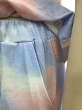 Tie Dye Sleeveless Two Piece Short Set