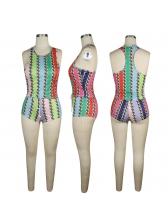 Tie Dye Printed Sleeveless 2 Piece Tracksuit Set