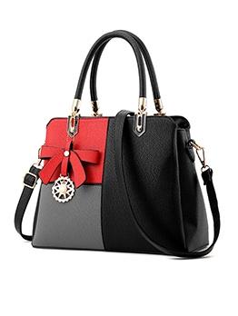 Bowknot Pendant Simple Design Ladies Big Handbags