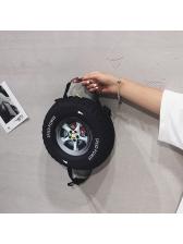 Creative Design Tire Shape Round Big Shoulder Bags
