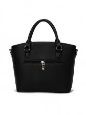 Office Ladies Solid Color Pu Ladies Handbags With Belt