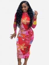 Digital Snake Print Bodycon Dresses For Women