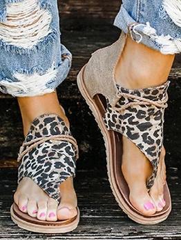 Animal Printed Flip Flop Flat Sandal