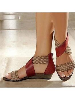 Bohemian Vintage Woven Womens Sandals