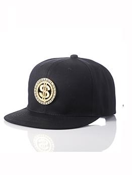 Hip Hop Style Metal Dollar Pattern Unisex Baseball Cap
