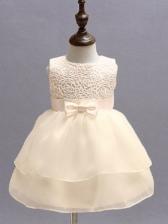 Flower Pattern Gauze Hem Baby Girl Party Dresses