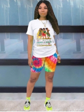 Casual Sporty Printed 2 Piece Summer Outfits