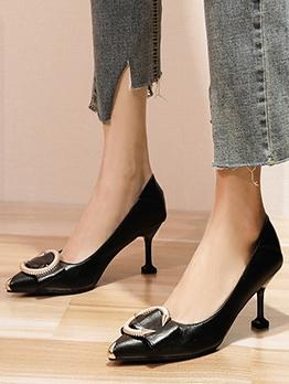 Rhinestone Pointed Toe High Heel Shoes