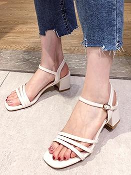 Summer Chunky Heel Comfortable Sandals