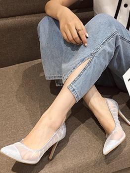Glitter Pointed Toe Female High Heels