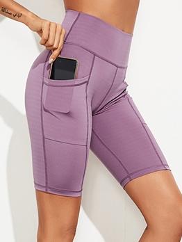 High Waisted Pockets Solid Yoga Pants