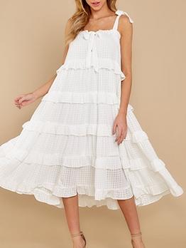 Loose Solid Camisole Midi Dress