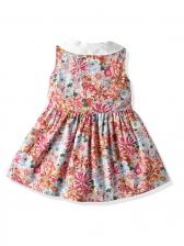 Vintage Sleeveless Floral Stylish Dress For Girls