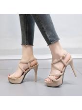 Stylish Solid Stilettos Platform Sandals