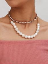 Fashion  Faux Pearl Pendants Necklaces For Women