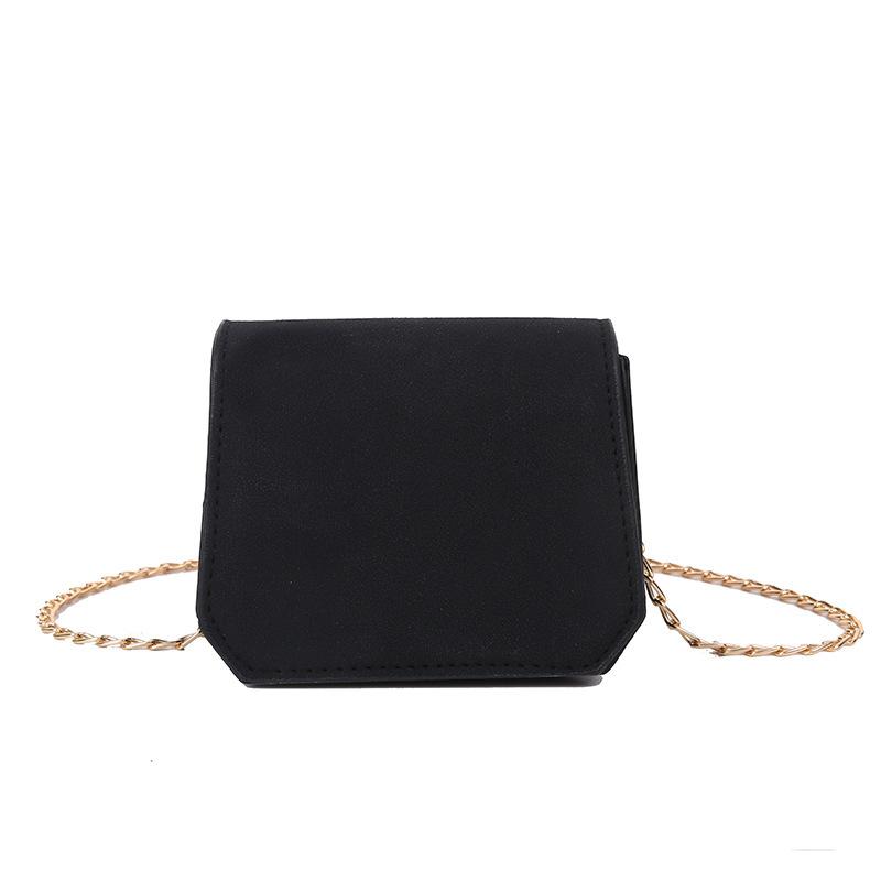 Matte Pu Solid Color Chain Mini Crossbody Bags