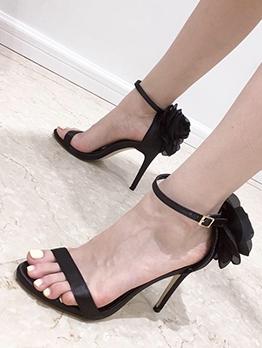 Fashion Stereo Flower Heel Ladies Sandal