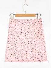 Summer High Waist Print Short Skirt For Women