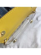 Clear PVC Patchwork Pu Light Chain Shoulder Bags