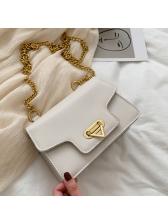 Golden Chain Solid Color Versatile Shoulder Bags