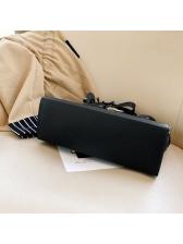 Tassel Pendant Solid Color Ladies Handbags With Belt