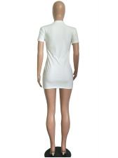 Euro Rhinestone Eye Printed t Shirt Dress