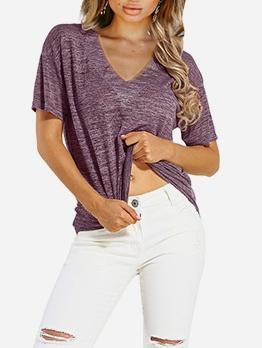 Loose v Neck Short Sleeve Cheap t Shirts