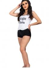 Summer Loungewear Printed 2 Piece Shorts Set